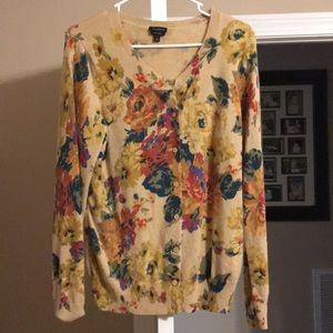 Talbots Multi Colored Cashmere Sweater